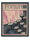 Typewriter Keys on the Cover of a Magazine Giclée-tryk