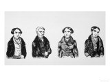 Four of the Six Tolpuddle Martyrs Transported to Australia for Forming a Trade Union Giclee Print