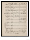 First Page of a Full Orchestral Score Listing Woodwind Brass Strings Four-Part Chorus and Organ Giclee Print