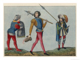 English Soldiers in Military Costume Giclee Print by Joseph Strutt