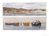 Top: a Dressing Station on a Beach Suvla Bay Giclee Print by Norman Wilkinson