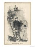 Otto Bismarck German Chancellor Dismissed by Kaiser Wilhelm II: Dropping the Pilot Stampa giclée di Tenniel, John