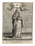 Depicted Showing the Infant Jesus a Single Rose Giclee Print by Hieronymus Wierix