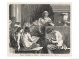 Solon Establishes the Laws of Athens Giclee Print by Hermann Vogel