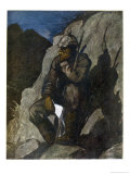 In a Quiet Moment a German Soldier Thinks of Home Giclee Print by Erich Wilke