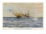 "Australian Cruiser ""Sydney"" Destroys the German Raider ""Emden"" off North Keeling Island Giclee Print by William Lionel Wyllie"