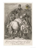 Richard III's Corpse is Carried on Horseback after the Battle of Bosworth Giclee Print by Issac Taylor