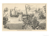 The Fleet of Kublai Khan in the Indian Archipelago as Described by Marco Polo Giclee Print by Henry Yule