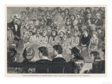 Michael Faraday English Chemist and Physicist Lectures to an Audience of Children Giclee Print