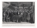 The Congress of Munster Concludes the Treaty of Westphalia Giclee Print by Suyderhoet