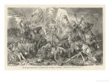 The Teutonic Knights Attack Poland and Lithuania Giclée-Druck von Hermann Vogel
