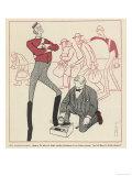 Cartoon of German Consul Giclee Print