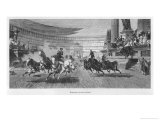 Chariot Race Under Way at the Circus Maximus Rome Giclee Print by Friedrich Thiersch