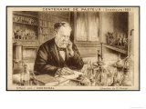 Louis Pasteur French Chemist and Microbiologist in His Laboratory Giclee Print by H. Wagner