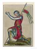 An English Knight in Military Habit in an Attitude of Prayer Giclee Print by Joseph Strutt