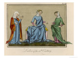 Three Young English Ladies Giclee Print by Joseph Strutt