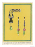 Egyptian-Style Jewellery by Cartier, a Brooch and Earrings Giclee Print