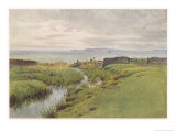 Dorset Scenery: Portland Bill from Weymouth Bay Giclee Print by Walter Tyndale