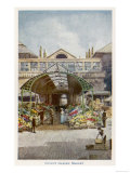 Covent Garden the Flower Stalls at the Market Giclee Print