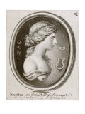 Sappho Greek Poet Giclee Print by J. Worlidge