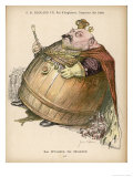 Edward VII Depicted as an Ogre with a Body the Size of a Barrel Giclee Print by Jean Veber