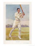 Rev Frank Hay Gillingham English Cricketer in Action Premium Giclee Print by  Spy (Leslie M. Ward)
