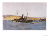 Hms Sarnia Lands Troops in Suvla Bay Giclee Print by Norman Wilkinson