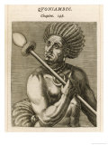 Quoniambec Brazilian Ruler of the 16th Century Giclee Print by Andre Thevet