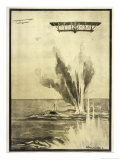 The U.II is Attacked at Low Altitude by the French Squadron of Jean Roulier Giclee Print by A. Theunissen
