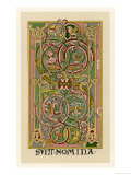 Interlacing Folial Designs from a German Bible Gicle-tryk
