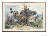 Theodore Roosevelt, 26th American President, and the Railroad Bill Giclee Print by Eugene Zimmerman