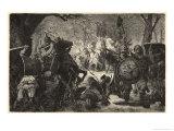 Ottokar II of Bohemia Invades Prussia Giclée-Druck von Hermann Vogel