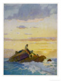 """The Mysterious Island"" the Last Hope Giclee Print by Newell Convers Wyeth"