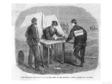 American Civil War Soldiers are Punished for Gambling by Being Compelled to Gamble Giclee Print