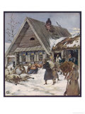 Requisitioning Food in a Village Giclee Print by Zvorykine 