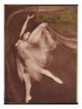 Ballet Dancer Posing Elegantly Giclee Print