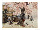 Jirohei is Killed by a Samurai While Defending the Cherry Tree Giclee Print by R. Gordon Smith