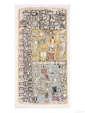 Part of a Calendar Used by Maya Priests, Depicting Gods and Symbolic Creatures Giclee Print