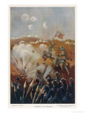 The Storming of the Trenches at Franklin-Nashville Giclee Print by Paul Wilhelmi