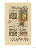 Page from a French Breviary: The Miniature Depicts Hannah Before Eli the High Priest Giclee Print