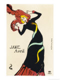 Jane Avril Music Hall Performer Giclee Print by Henri de Toulouse-Lautrec