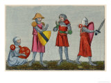 English Military Costume Showing Various Types of Armour Giclee Print by Joseph Strutt