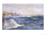 British Battle-Cruisers Zigzagging in the North Sea Giclee Print by William Lionel Wyllie