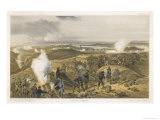 Mortar Battery Bombards the Besieged City Giclee Print by E. Walker