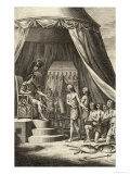 Cassivellaunus Chieftain of the Catuvellauni Sues for Peace to Julius Caesar Giclee Print by Samuel Wale