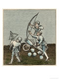 English Soldiers with Artillery Long Bow and Cross Bow Giclee Print by Joseph Strutt