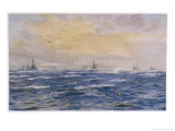 Blustery Winter Conditions Prevail at Scapa Flow Giclee Print by William Lionel Wyllie