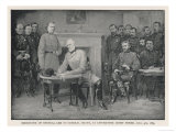General Lee Surrenders to General Grant at Appomattox Court House Premium Giclee Print
