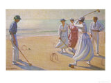 Croquet on a Sandy Beach Giclee Print by L. Tanqueray