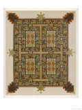 "Illumination from the ""Lindisfarne Gospels"" or Gospels of Saint Cuthbert Giclee Print"